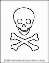 Skull Crossbones Coloring Drawing Many Getdrawings sketch template