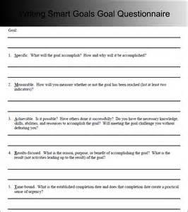 Writing Smart Goals Template