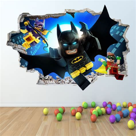 Lego Bedroom Wall Decals by Lego Batman Wall Sticker 3d Look Boys Bedroom Wall
