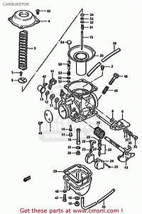 Suzuki Gn125 1991  M   E01 E02 E04 E21 E34  Carburetor