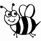 Bee Coloring Bumble Clipart Honey Cartoon Abelha Bees Bumblebee Printable Colouring Colorir Desenhos Transparent Drawings Desenho Designlooter Stencil Cricut Pngio sketch template