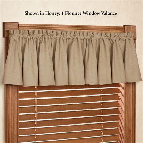 glasgow solid color flounce window valance