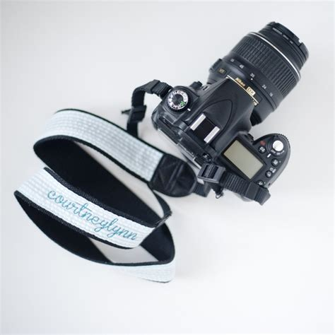 personalized embroidered dslr camera strap  epicallyembroidered