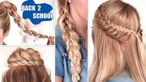 quick  easy hairstyles  school  long hair