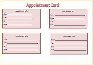 search results for free printable appointment cards With medical appointment card template free