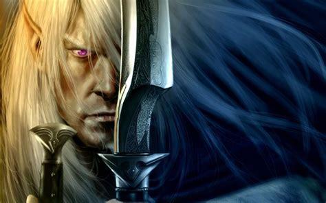 full hd wallpaper elf warrior face sword desktop