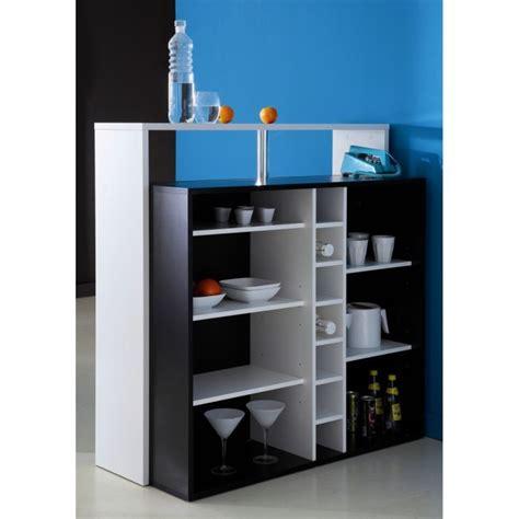 meuble cuisine cagne piano meuble bar contemporain noir et blanc l 110 cm