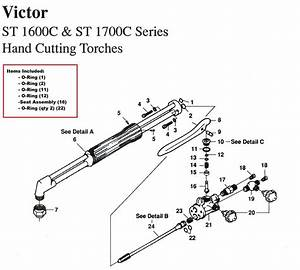 Victor St1600c  U0026 St1700c Cutting Torch Rebuild  Repair