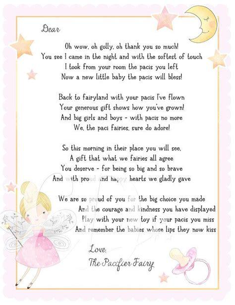 paci fairy letter binky fairy letter dummy fairy letter