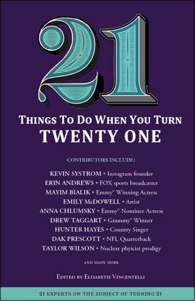 21 Things To Do When You Turn Twenty One  Newsouth Books
