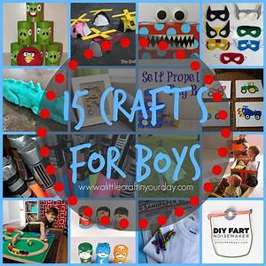 15 Crafts for Boys - A Little Craft In Your Day