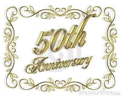 50th Anniversary Invitation 3D Illustration Royalty Free