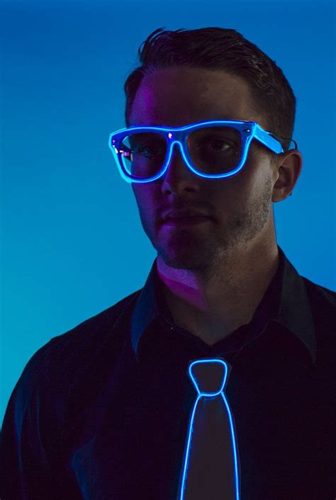 blue light glasses clear light up glasses rave glow sunglasses w clear lenses