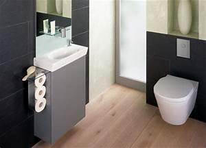Kleines Wc Fliesen : sch nheitskur f rs g ste wc renovieren im handumdrehen mit tonicguest von ideal standard ikz de ~ Markanthonyermac.com Haus und Dekorationen