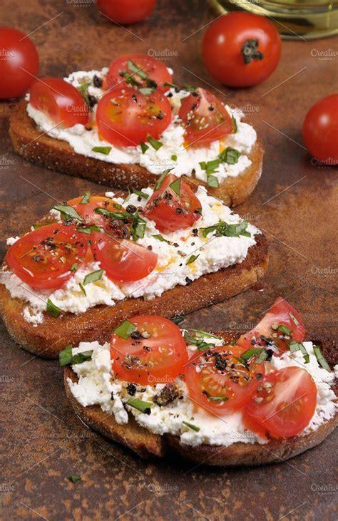 bruschetta  ricotta avec images cuisine calories
