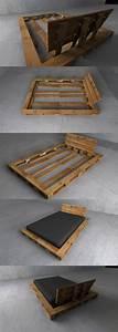 Fabriquer Un Canapé En Palette : 1001 id es comment fabriquer un lit avec des palettes diy pinterest lit lit en palette ~ Voncanada.com Idées de Décoration