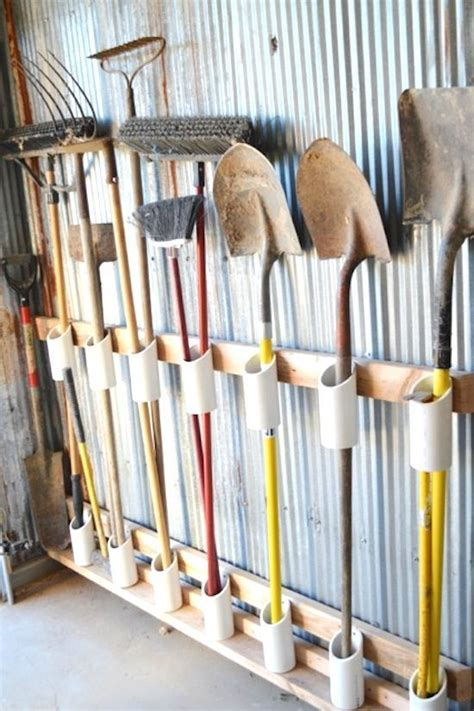 Garage Storage Ideas Garden Tools by 25 Best Ideas About Tool Shed Organizing On