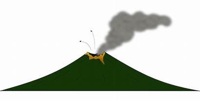 Volcano Clipart Gunung Clip Eruption Animated Lava