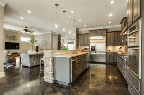 Kitchen Floor Designs And Benefits Of Using Concrete The