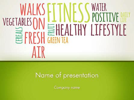 healthy lifestyle concept shapes  powerpoint