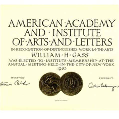 american academy of arts and letters honors 183 william h gass the soul inside the sentence 20439
