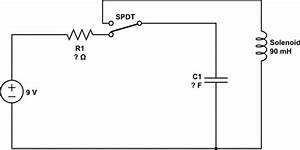 actuating a solenoid through a capacitor electrical With solenoid circuit