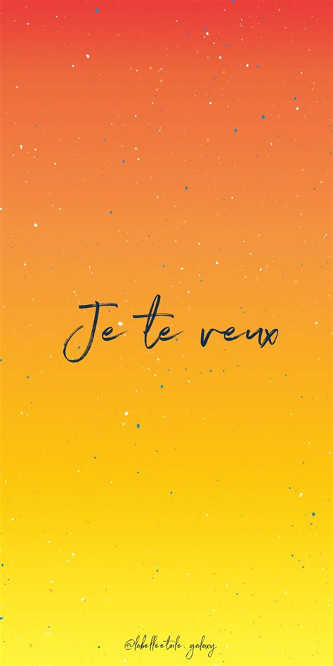 Je te veux I want you - Bonjour You are in the right pace ...