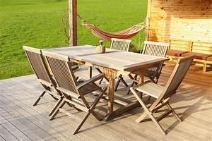 Salon Jardin Teck : entretenir son mobilier de jardin en teck bois et plastique ~ Teatrodelosmanantiales.com Idées de Décoration
