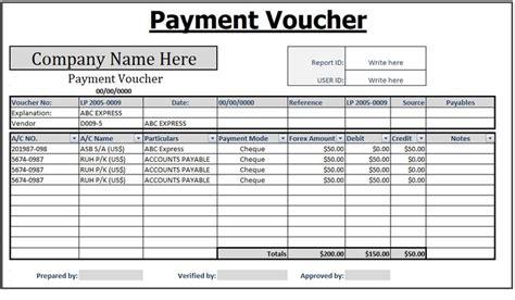 payment voucher templates   printable word excel
