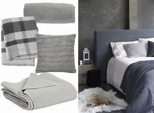 Plaid Gris Clair : une chambre la d co grise joli place ~ Teatrodelosmanantiales.com Idées de Décoration