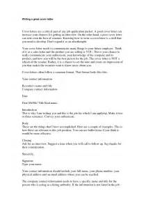Tips On Cover Letters Tips For A Cover Letter For A Application