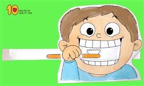 child brushing teeth printable craft  minutes
