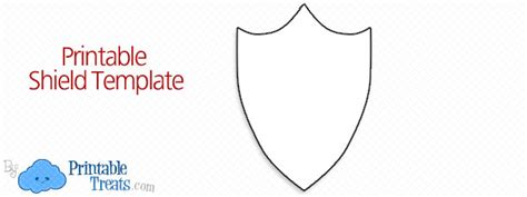 printable shield template printable treatscom