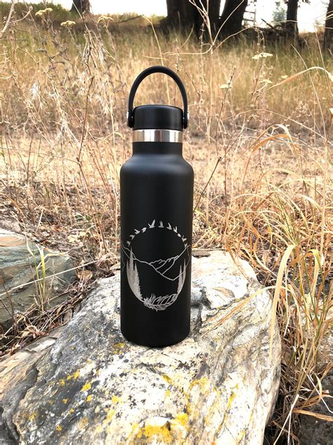 hydro flask custom national mountains flasks park personalized mom contact dad feather trees
