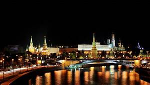 Kremlin city at night in Moscow Russia city | city wallpaper