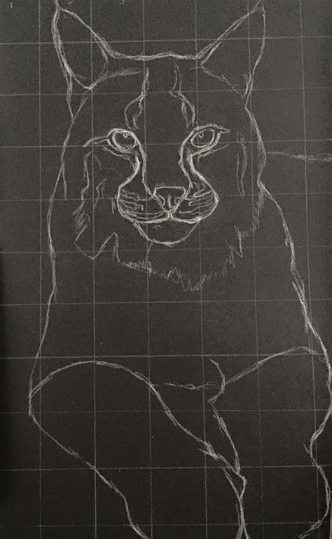 charcoal drawing   grid method