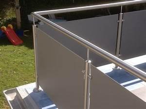 edelstahlgelander mit glas balkongel nder balkon With markise balkon mit fornasetti tapete gesichter kaufen