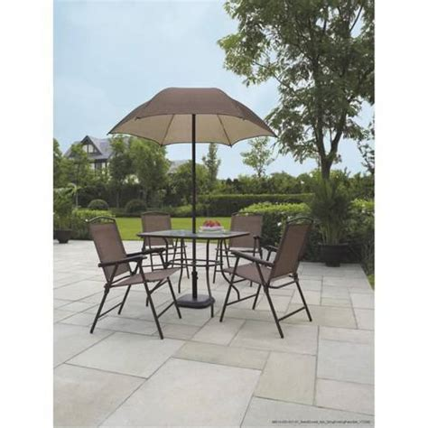 mainstays sand dune 6 piece folding patio dining set with