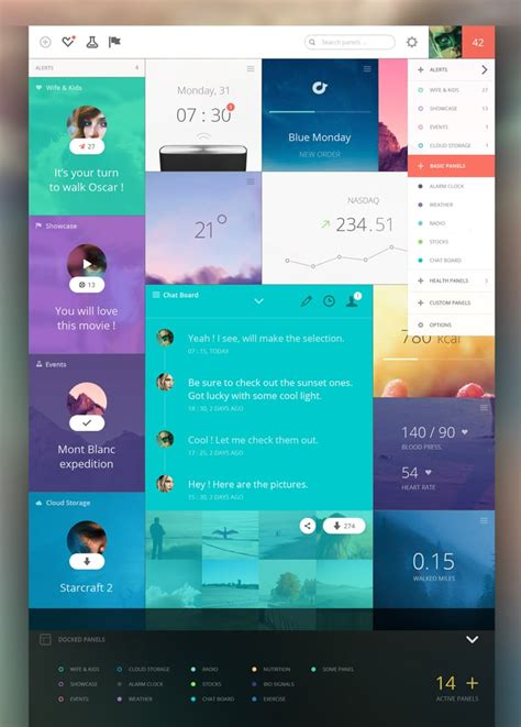 awesome dashboard designs   inspire