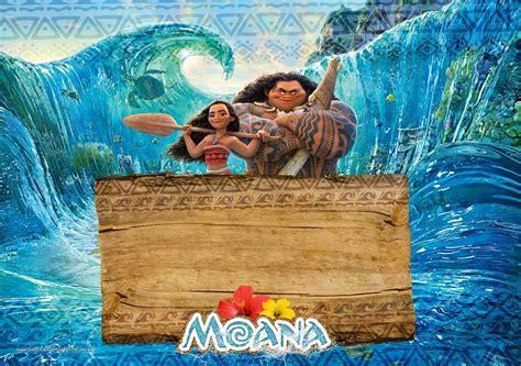 moana template moana free printable invitations oh my in