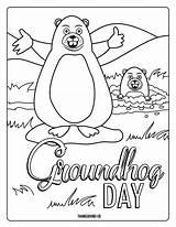 Groundhog Coloring Adorable Valentine Hug Printables sketch template