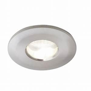 Ip bathroom rated recessed spotlight in satin chrome