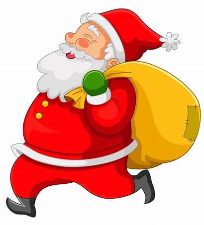 Santa Transparent Clipart Yellow Bag Noel Papa