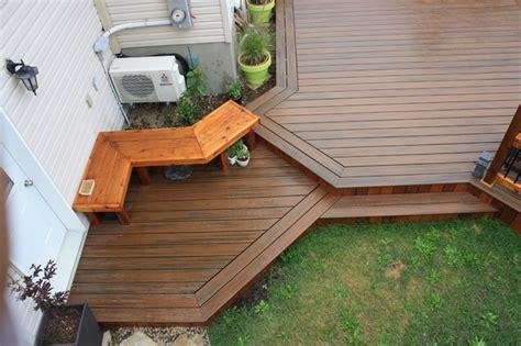 custom trex decks patios contemporary patio montreal