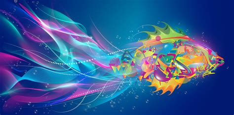 Abstract Fish Desktop Background Hd 2411x1191 Deskbgcom