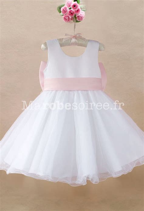 robe blanche enfant robe cort 232 ge enfant blanche en satin et tulle robes