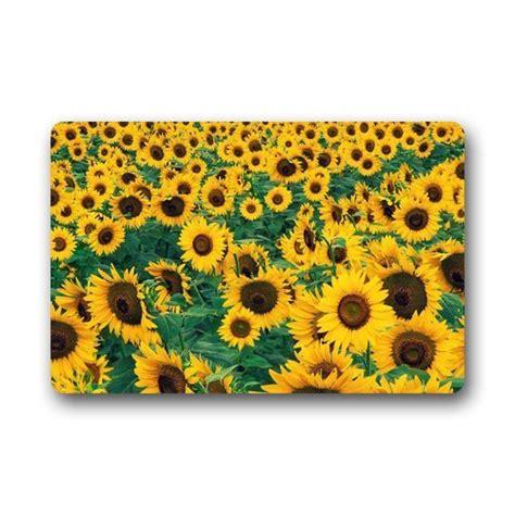 sunflower bathroom rug set sunflower kitchen rugs washable sunflower kitchen rugs