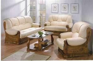 une elegance parfaite dans votre maison avec les canapes With canapé cuir et bois