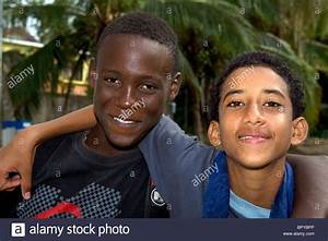 Costa Rican afro-caribbean teen with spanish native teen ...