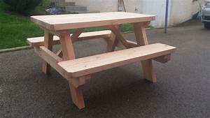 Table Picnic Bois Pas Cher : tables pour enfants table de jardin pas cher ~ Melissatoandfro.com Idées de Décoration